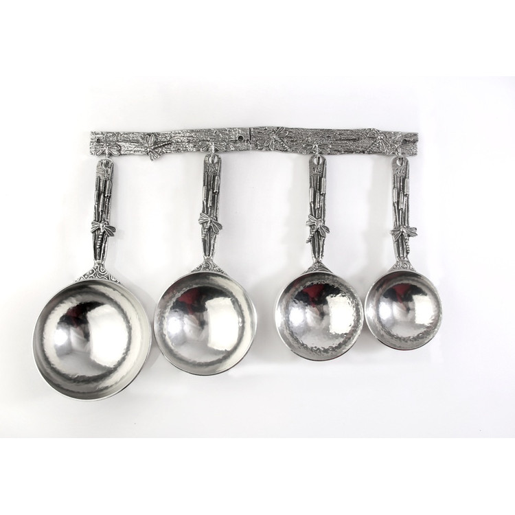 Dragonfly Pewter Measuring Cups on Pewter Strip