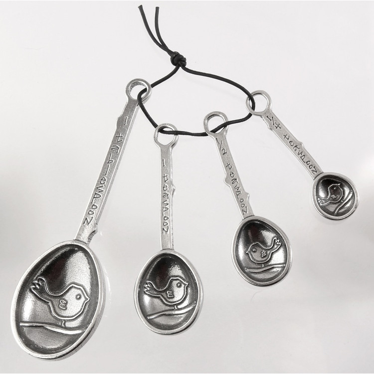 Bird Pewter Measuring Spoons