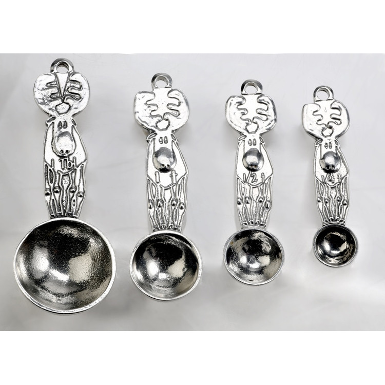 Moose Pewter Measuring Spoons
