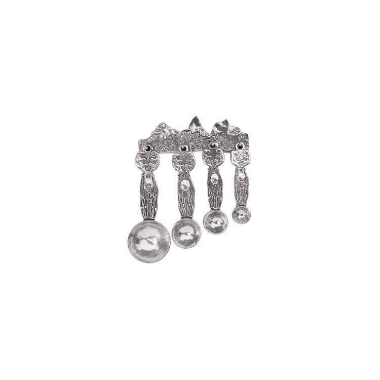 Moose Pewter Measuring Spoons on Pewter Strip
