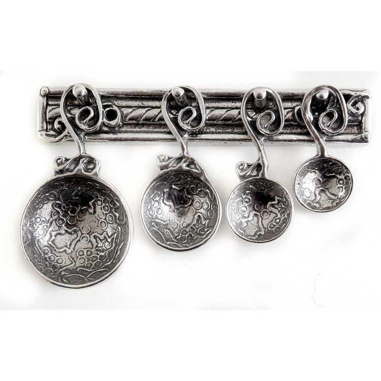 Vineyard Pewter Measuring Spoons on Pewter Strip