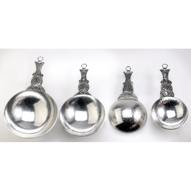 Fish Pewter Measuring Cups